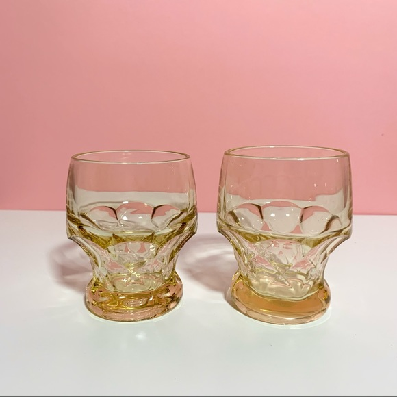 Vintage yellow drinking glasses